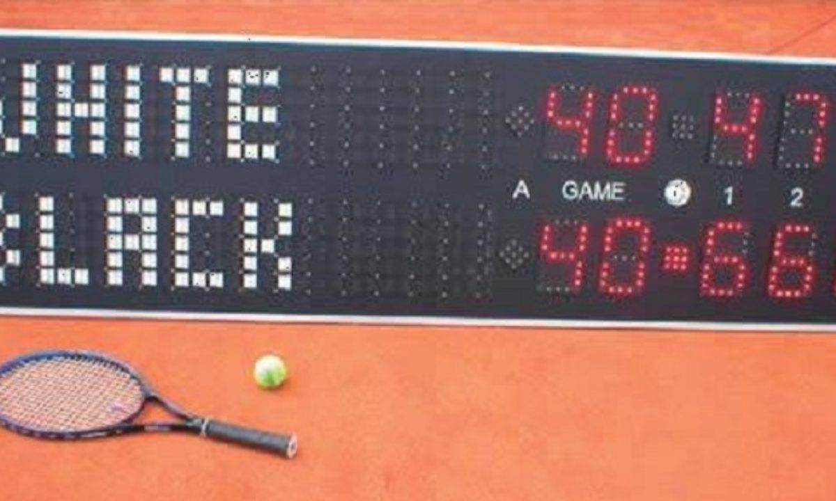Tableau De Score Tennis Parfait Pour Afficher Les Resultats