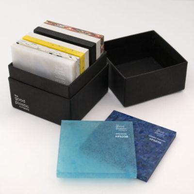 échantillons plastique recyclé